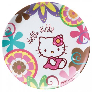 Assiette mélamine Hello Kitty Bamboo