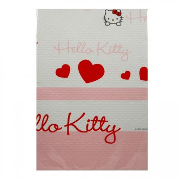 Nappe Hello Kitty Coeur rouge