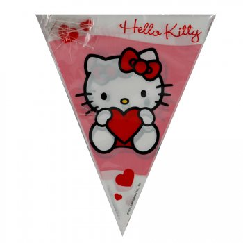 Guirlande fanions Hello Kitty Coeur rouge