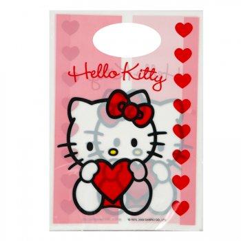 6 pochettes à cadeaux Hello Kitty Coeur rouge