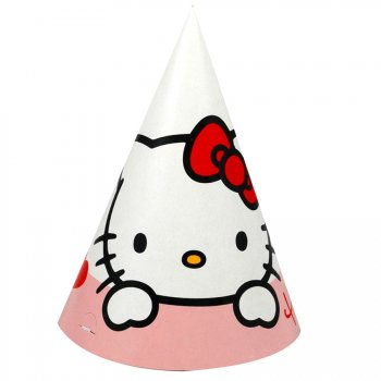 6 chapeaux Hello Kitty Coeur rouge