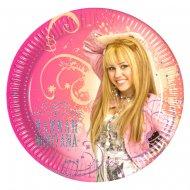 8 assiettes Hannah Montana