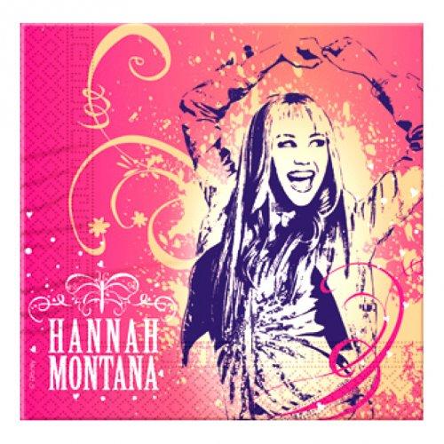 16 serviettes Hannah Montana