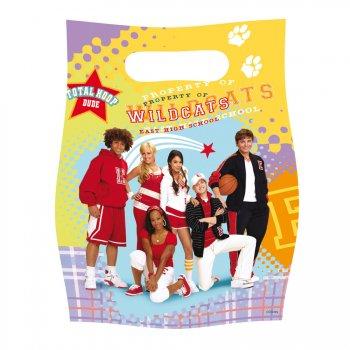 6 pochettes à cadeaux High School Musical