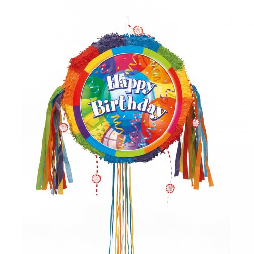 Pull pinata Happy Birthday dépliable