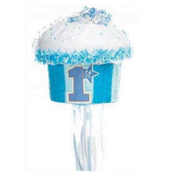 Pull Pinata Cupcake Bleu