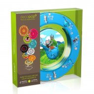Coffret 4 Assiettes Decopop Arthur et le dragon volant