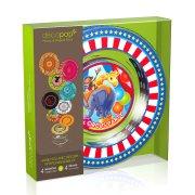Coffret 4 Assiettes Decopop Circus Party !