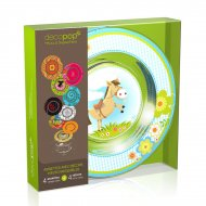 Coffret 4 Assiettes Decopop Cannelle