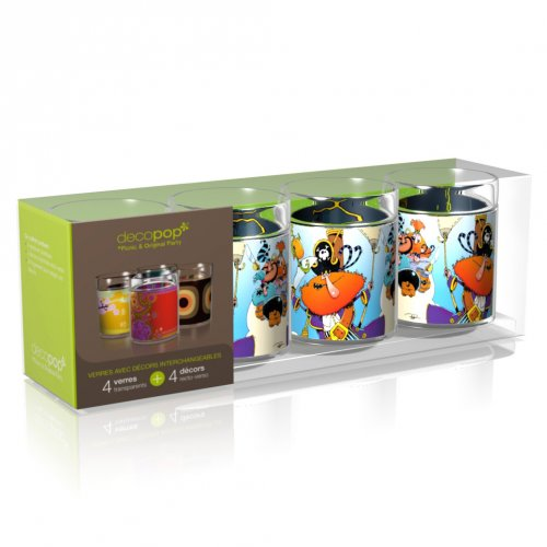 Coffret 4 Verres Decopop Captain Rakham