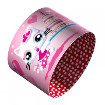 4 Ronds de serviette Decopop Miaou