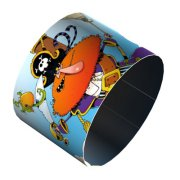 4 Ronds de serviette Decopop Captain Rakham