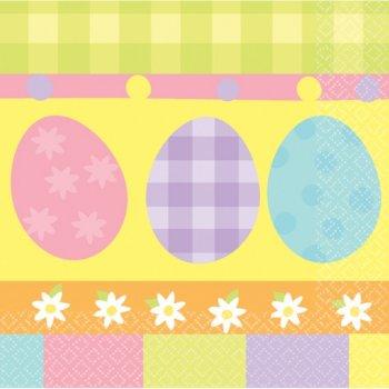 20 Serviettes 3 Oeufs de Pâques