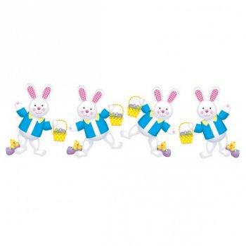 4 décorations Lapins de Pâques
