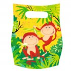 6 pochettes cadeaux safari