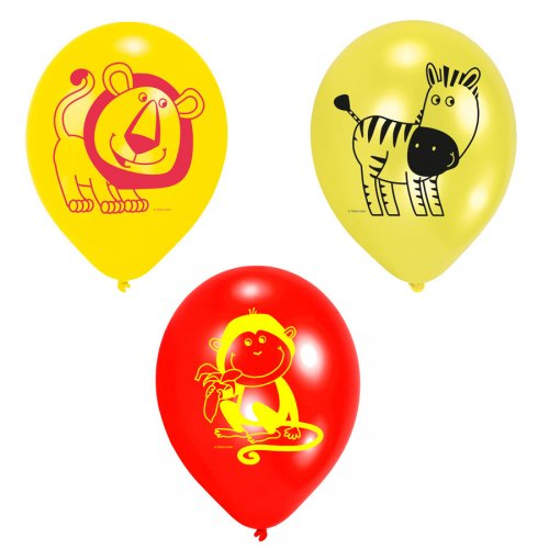 6 ballons safari