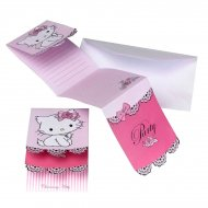 6 invitations Charmmy Kitty
