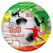 8 assiettes Goal