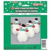 4 Minis bonhommes de neige 3D