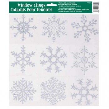 Adhésifs fenêtre flocons de neige