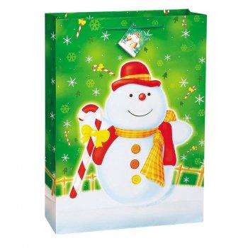 Sac cadeau bonhomme de neige