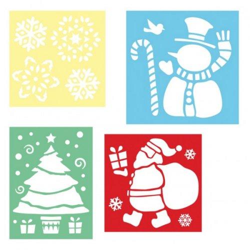4 Pochoirs décors Noël