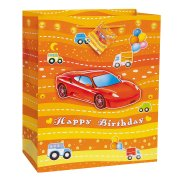 Grand sac cadeau ''Happy Birthday'' garçon