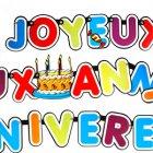 Guirlande Joyeux Anniversaire et gâteau