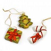 3 décorations en céramique à suspendre