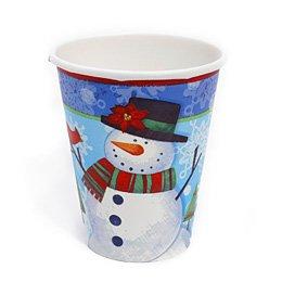 8 gobelets bonhomme de neige