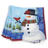 16 serviettes bonhomme de neige