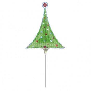 Ballon sur tige Sapin de Noël