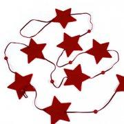 Chaînette étoiles feutrine rouge