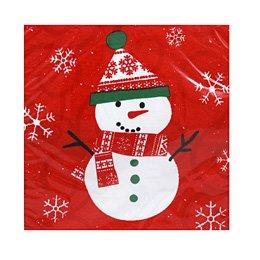 Serviettes Bonhomme de neige rouge