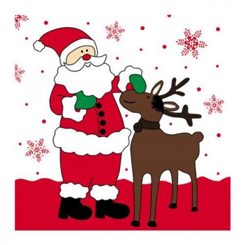 20 Serviettes Père Noël et renne