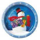 8 assiettes bonhomme de neige avec cadeaux