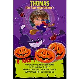 8 Invitations Halloween Pour L Anniversaire De Votre Enfant Annikids