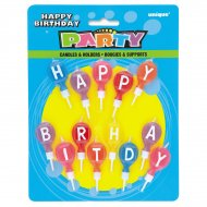 13 bougies ballons ''Happy Birthday''