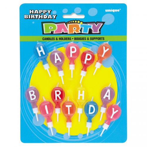 13 bougies ballons   Happy Birthday