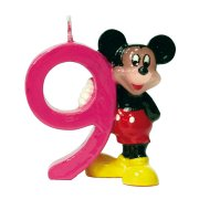 Bougie Mickey ''9'' ans