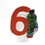 Bougie Clown ''6'' ans
