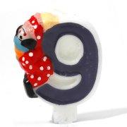 Bougie Clown ''9'' ans
