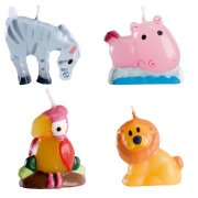 4 bougies animaux sauvages