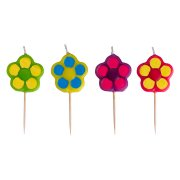 4 Bougies Fleurs à piquer Garden Party