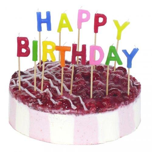 13 Bougies Lettres Happy birthday à piquer (8 cm)