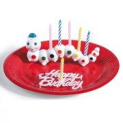 Décoration de gâteau avec bougies