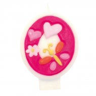 Bougie Pink Flowers chiffre 0