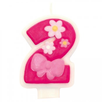 Bougie Pink Flowers 2 ans