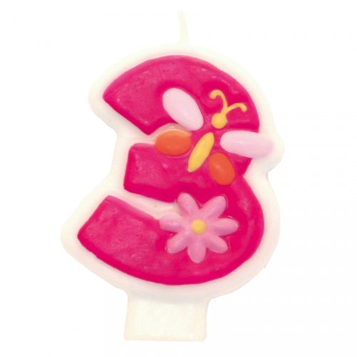 Bougie Pink Flowers 3 ans