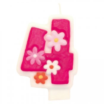 Bougie Pink Flowers 4 ans